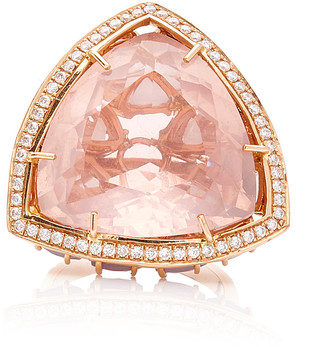 Karma el Khalil Horizon Rose Quartz and Opal Ring