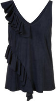 Drome ruffled tank top - women - Suede - S