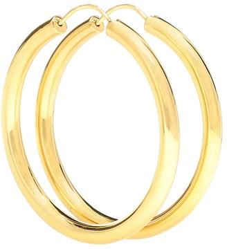 Theodora Warre Gypsy Large gold-plated hoop earrings