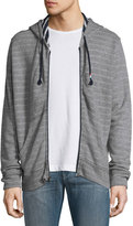 Sol Angeles Double-Face Zip-Front Hoodie, Light Gray