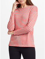 John Lewis Grindle Stripe Drop Sleeve Top