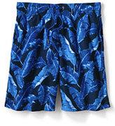 "Classic Men's Big & Tall 8"" Volley Swim Trunks-Harbor Blue Print"