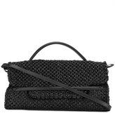 Zanellato fold-over closure tote - women - Raffia/Leather - One Size