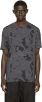 Helmut Lang Black Labyrinth Print T-Shirt