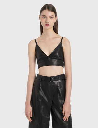 Helmut Lang Leather Bra Top
