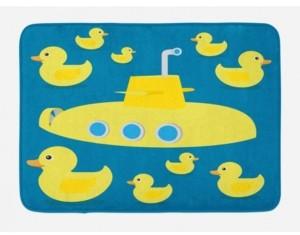 Ambesonne Rubber Duck Bath Mat Bedding