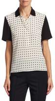 Akris Punto Silk Polka Dot Blouse