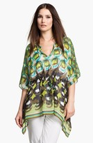 Lafayette 148 New York 'Galia - Shangrila' Silk Tunic