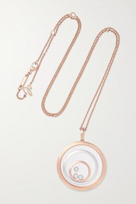 Chopard Happy Spirit 18-karat Rose And White Gold Diamond Necklace - Rose gold