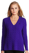 Polo Ralph Lauren Cable V-Neck Wool-Cashmere Sweater