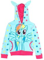 My Little Pony Rainbow Dash Front Girls Youth Costume Zip Hoodie - Youth