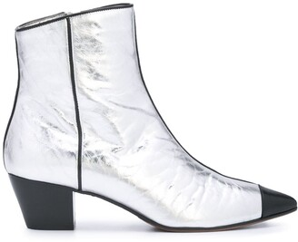 L'Autre Chose Side Zip Ankle Boots