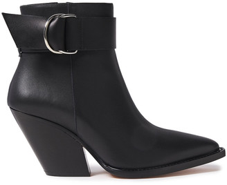 IRO Arez Buckled Leather Ankle Boots