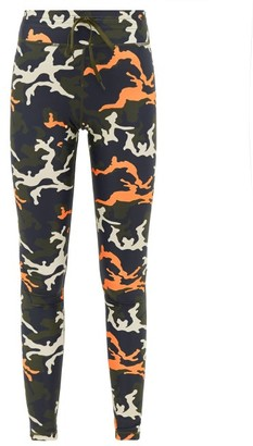 The Upside Camouflage-print Technical Leggings - Womens - Camouflage