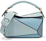 Loewe Puzzle Small Leather Shoulder Bag - Light blue