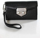 Aimee Kestenberg Black Leather Small Lock Closure Bifold Wallet Wristlet