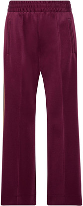 Marc Jacobs Woven-trimmed Stretch-jersey Track Pants