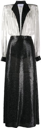 NERVI Katrine sequin-embroidered dress