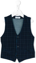Paolo Pecora Kids - checked waistcoat - kids - Cotton/Spandex/Elastane - 8 yrs