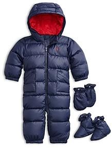 Ralph Lauren Boys' Solid Quilted Snowsuit - Baby