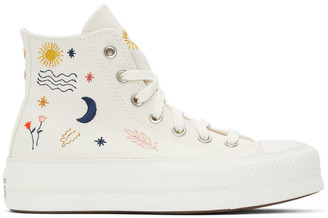 Converse White Its Okay to Wander Platform Chuck Taylor All Star High Sneakers