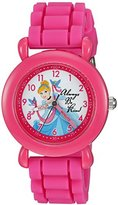Disney Girl's 'Ariel, Belle and Rapunzel' Quartz Plastic and Silicone Casual Watch, Color:Pink (Model: WDS000015)