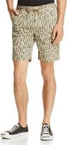 Michael Bastian Feather Print Drawstring Shorts