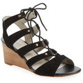 Hinge Women's 'Basin' Ghillie Lace Wedge Sandal