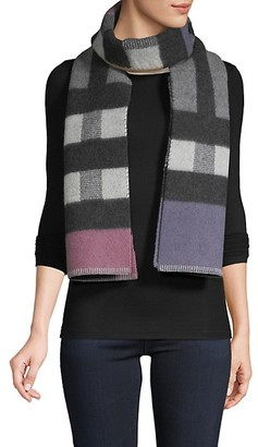 Burberry Wool Cashmere Check Scarf