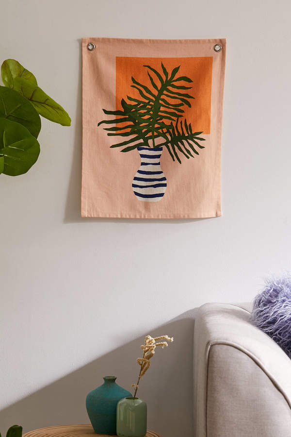 Urban Outfitters Minimal Floral Flag Tapestry