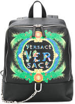 Versace Beverly Palm print backpack