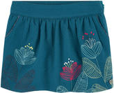 Catimini Short embroidered waffle percale skirt