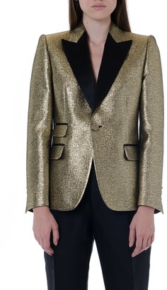 DSQUARED2 Metal Gold Single Breast Jacket