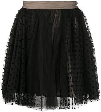 Lace Polka-Dot Skirt