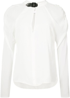 Fleur Du Mal Rouched Sleeves Blouse
