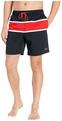 Speedo Color-Block Redondo Volley 18 Black) Men's Swimwear