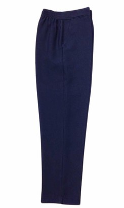 "Style Spot Ladies Womens Half Elasticated Waist Work Stretch Trouser with Pockets Pants Machine Washable Casual Trouser (Navy 22 Size 27"")"