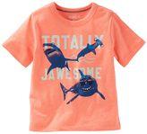 "Osh Kosh Toddler Boy Totally Jawesome"" Glow-In-The-Dark Shark Tee"