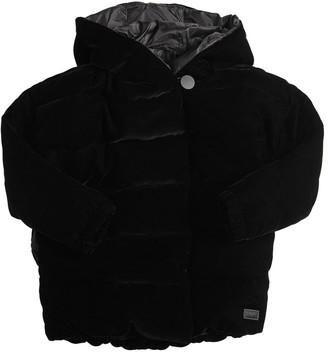 Emporio Armani Padded Velvet & Nylon Jacket