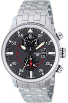 Torgoen Pilot T33 Series T33202 45mm Stainless Steel Case Steel Bracelet Mineral Men's Watch