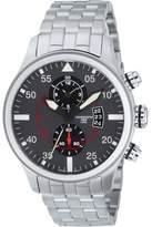 Torgoen Pilot T33 Series T33202 45mm Stainless Steel Case Steel Bracelet Mineral Men's Watch