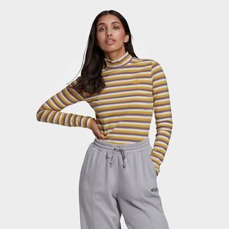 adidas Women's Striped Long-Sleeve T-Shirt