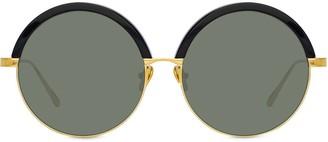 Linda Farrow Annie round frame sunglasses