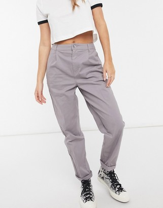 ASOS DESIGN chino pants in washed lilac