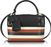 Victoria Beckham Multicolor Striped Leather Small Picnic Bag