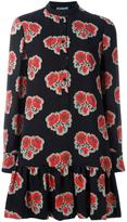 Alexander McQueen poppy print mini dress - women - Silk - 40