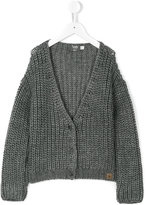 TocotÃ2 Vintage braided knit buttoned cardigan