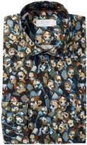 Eton Pattern Slim Fit Dress Shirt