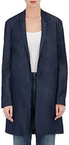 6397 Women's Cotton-Blend Oversized Blazer-Navy Size M