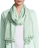 Eileen Fisher Ikat-Bands Organic Cotton Scarf, Aurora